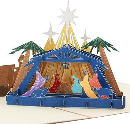 Tarjeta de Navidad 3D – nacimiento de Jesús – Tarjeta de ...