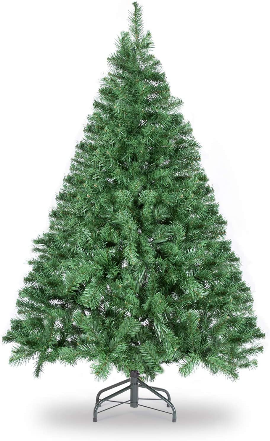 Amazon Com Wbhome 5 Feet Premium Spruce Hinged Artificial Christmas Tree 420 Branch Tips Unlit 5ft Kitchen Dining