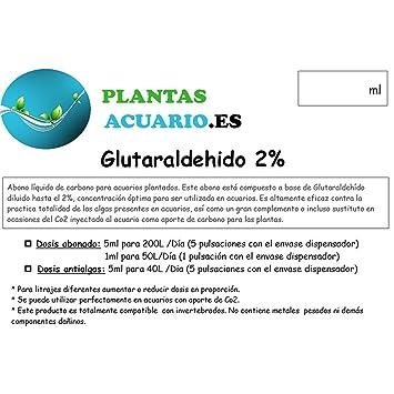 Glutaraldehido al 2% Antialgas Acuario (Glutar 2%) 500ml: Amazon.es: Jardín