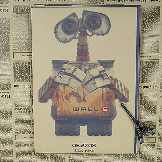 hzcl Pegatinas De Pared, Robot Historia Pared Wall-e Pixar ...