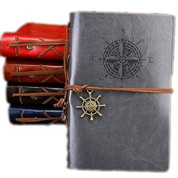 Agenda de cuaderno A5 vintage pirata con funda de piel ...