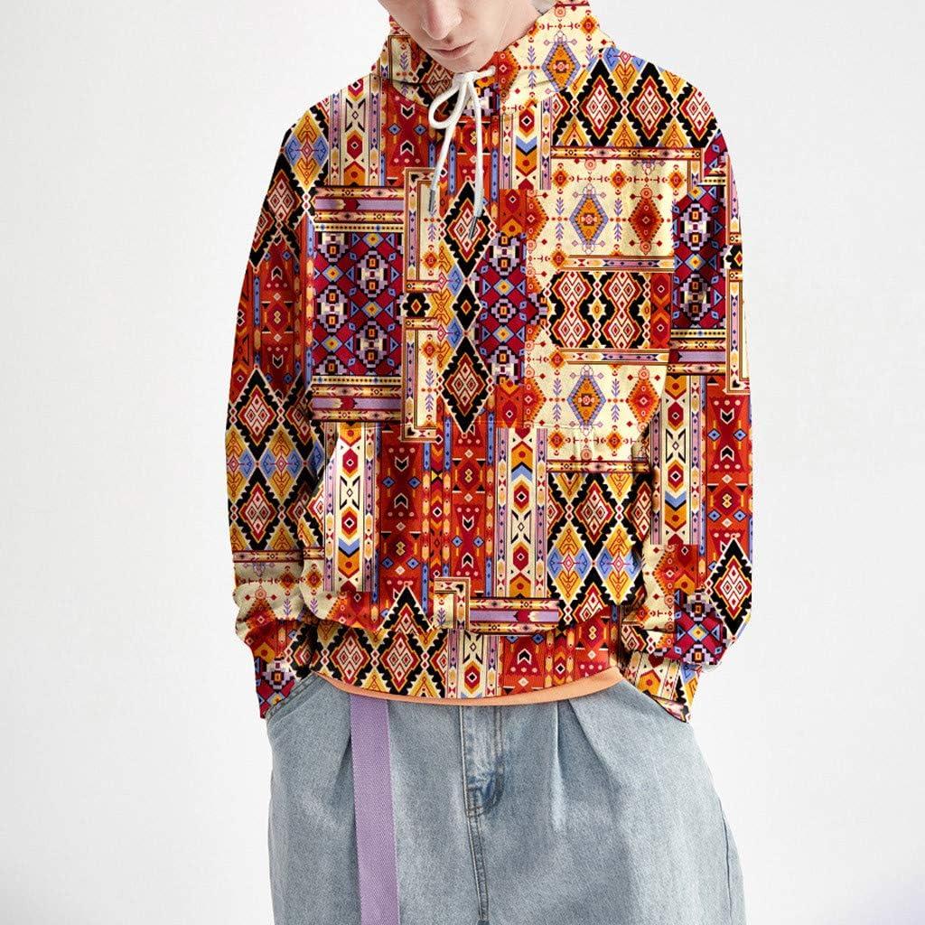 Autunm Loose Long Sleeve Top Sweatshirt Fxbar Rainbow Animal Personality 3D Printed Hoodie Hooded