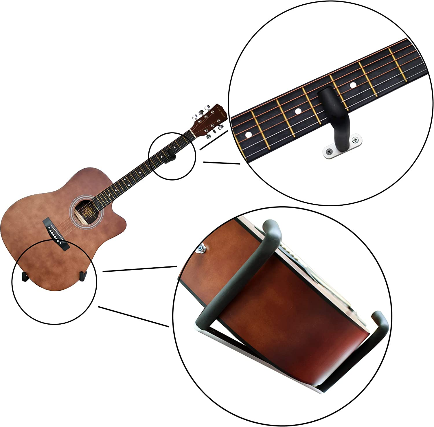 YYST Support mural inclinable pour guitare électrique