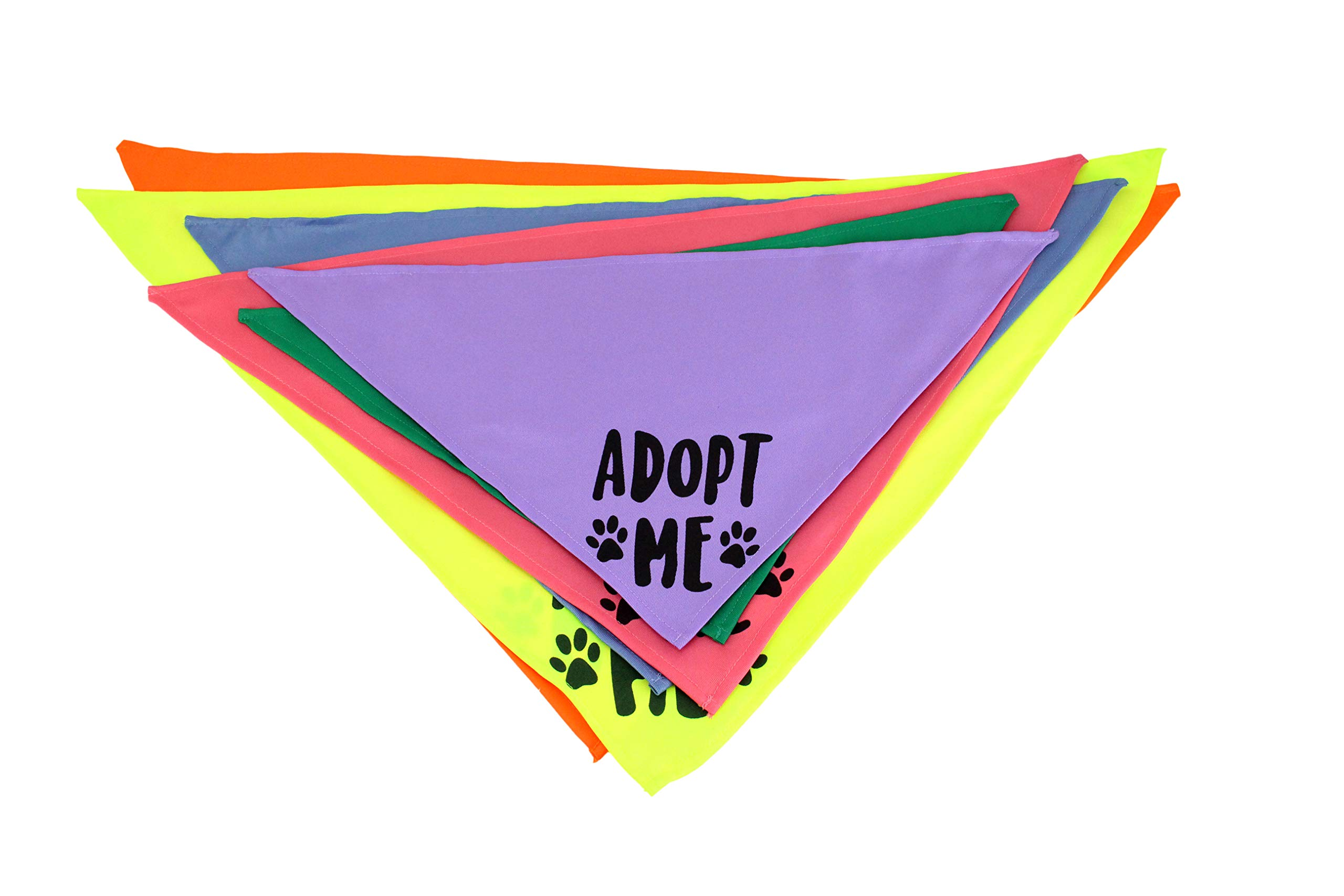 Midlee Adopt Me Dog Bandana- Pack of 6 Assorted Colors (Assorted) by Midlee