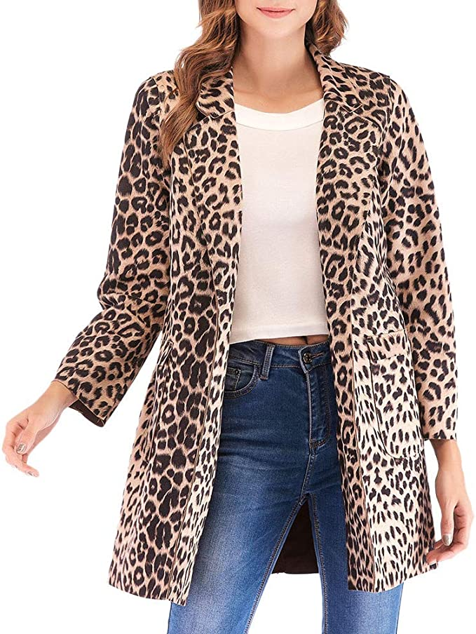 Transer Womens Winter Warm Soft Fluffy Faux Fur Long Sleeve Coat Jacket Parka Outerwear
