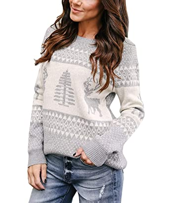 Yidarton Women S Causal Pullover Sweaters Long Sleeves Cute Heart