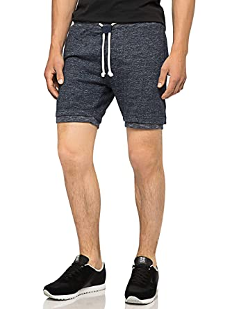 Bellfield Cuisse Sweat Mi Hommexl Chiné Gris Shorts Coton WYD2EH9I