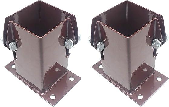 Juego de 2 zapatas de soporte para anclaje, de 100 mm, para valla de madera, 2 unidades