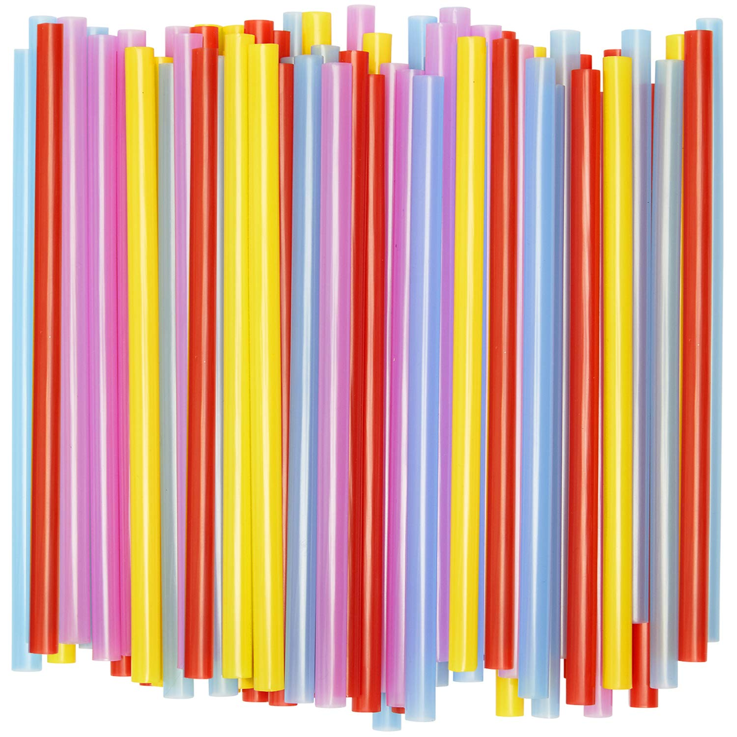 [100 Pack] Wide Smoothie Straws, Assorted Colors