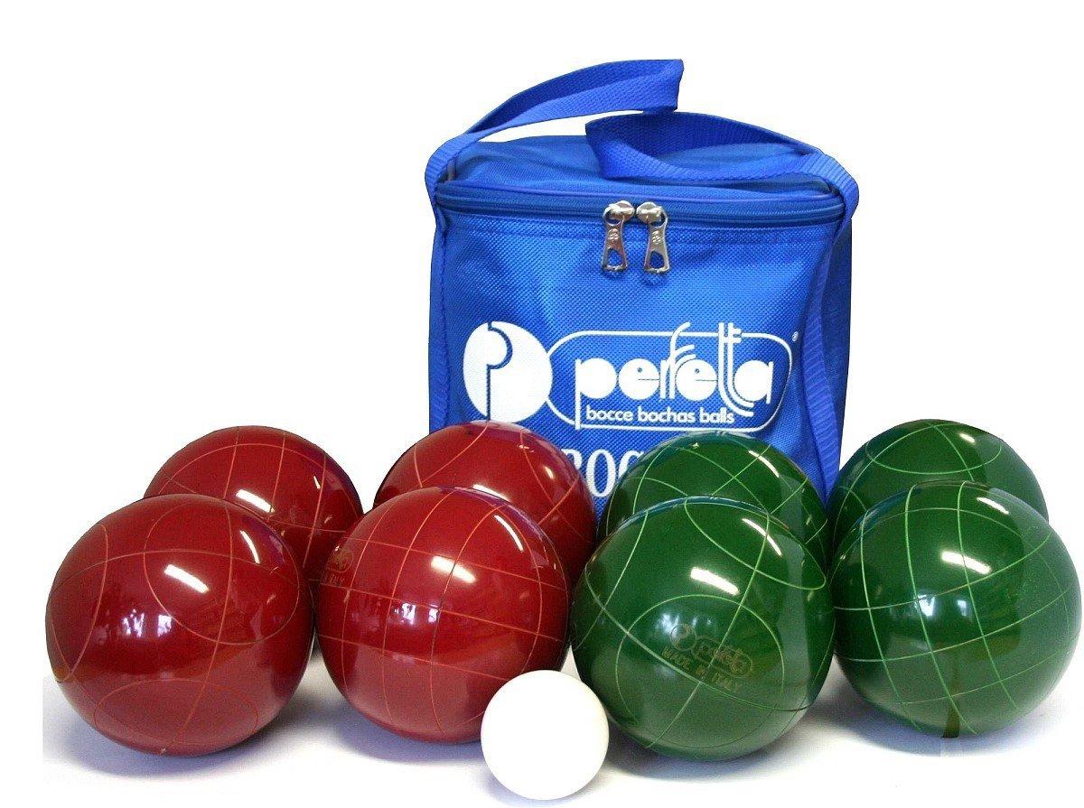 Perfetta Jolly Professional 107 Boccia Set, original Markenkugeln aus italien