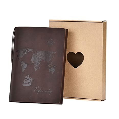 Amazon Com A5 Leather Notebook Seehan Blank Pages Journal
