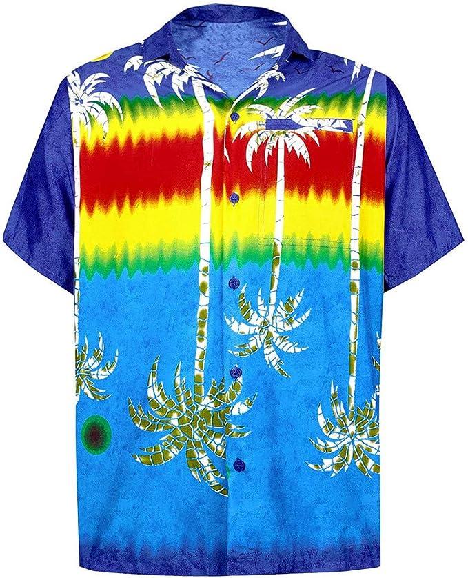 Cocoty-store 2019 Camisa Hawaiana para Hombre, Diseño de Palmeras, para la Playa, Fiestas, Verano y Vacaciones, XS/S/M/L/XL/2XL: Amazon.es: Ropa y accesorios