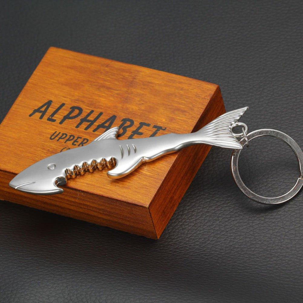 bjduck99 Creative Shark Keyring Beer Bottle Opener Keychain Metal Key Chain Keyfob by bjduck99 (Image #6)