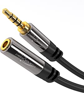 KabelDirekt (10 feet) Headset Extension Cable ( 3.5mm Male to 3.5mm Female)- Pro Series