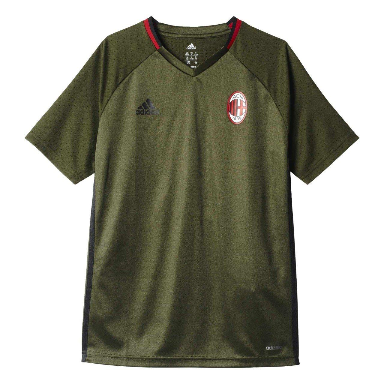 2016-2017 AC Milan Adidas Training Jersey (Night Cargo) Kids B01I1SOS00Green Large Boys 30-32\