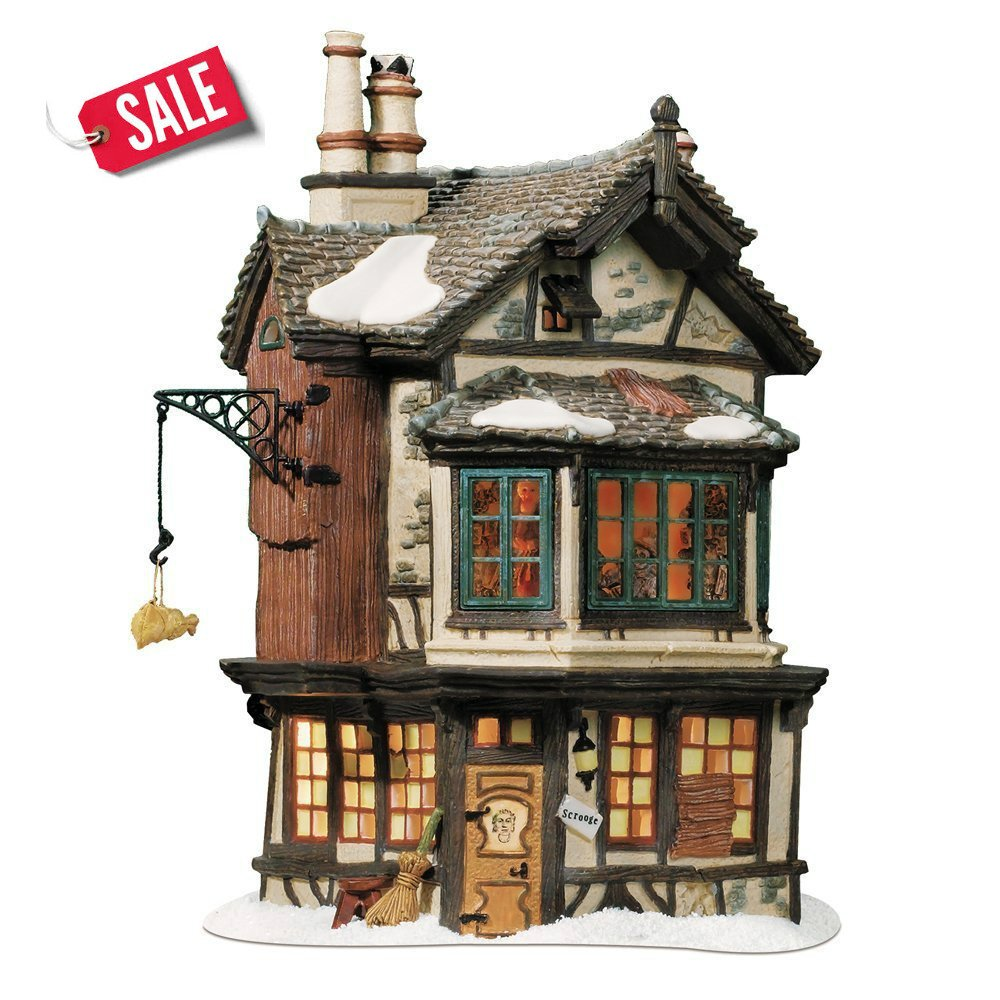 Christmas Model Village Ebenezer Scrooge's House Porcelain Winter House - Skroutz