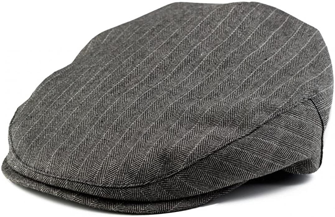 77c5242a3bd Amazon.com  Born to Love Boy s Pinstripe Driver Cap - (XXS) Grey and ...