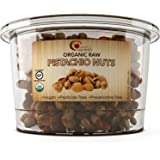 Pistachio Nuts – Organic Raw Pistachios - 100% Certified Gluten Free Kosher & Salt Free – Perfect For Trail Mix Cooking and Baking - 8 Oz - USDA Organic – Vegan - by Maple Holistics