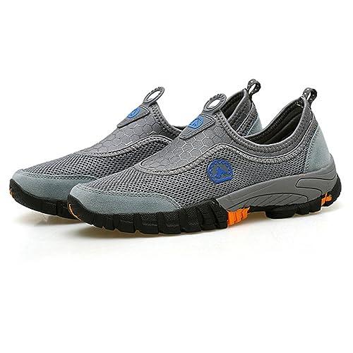 gracosy Zapatillas de Deporte para Hombre Slip On Running Ligero Zapatillas de Deporte de Malla al