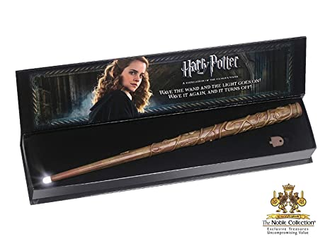 Noble Collection Hermione Wand with Illuminating Tip: Amazon ...