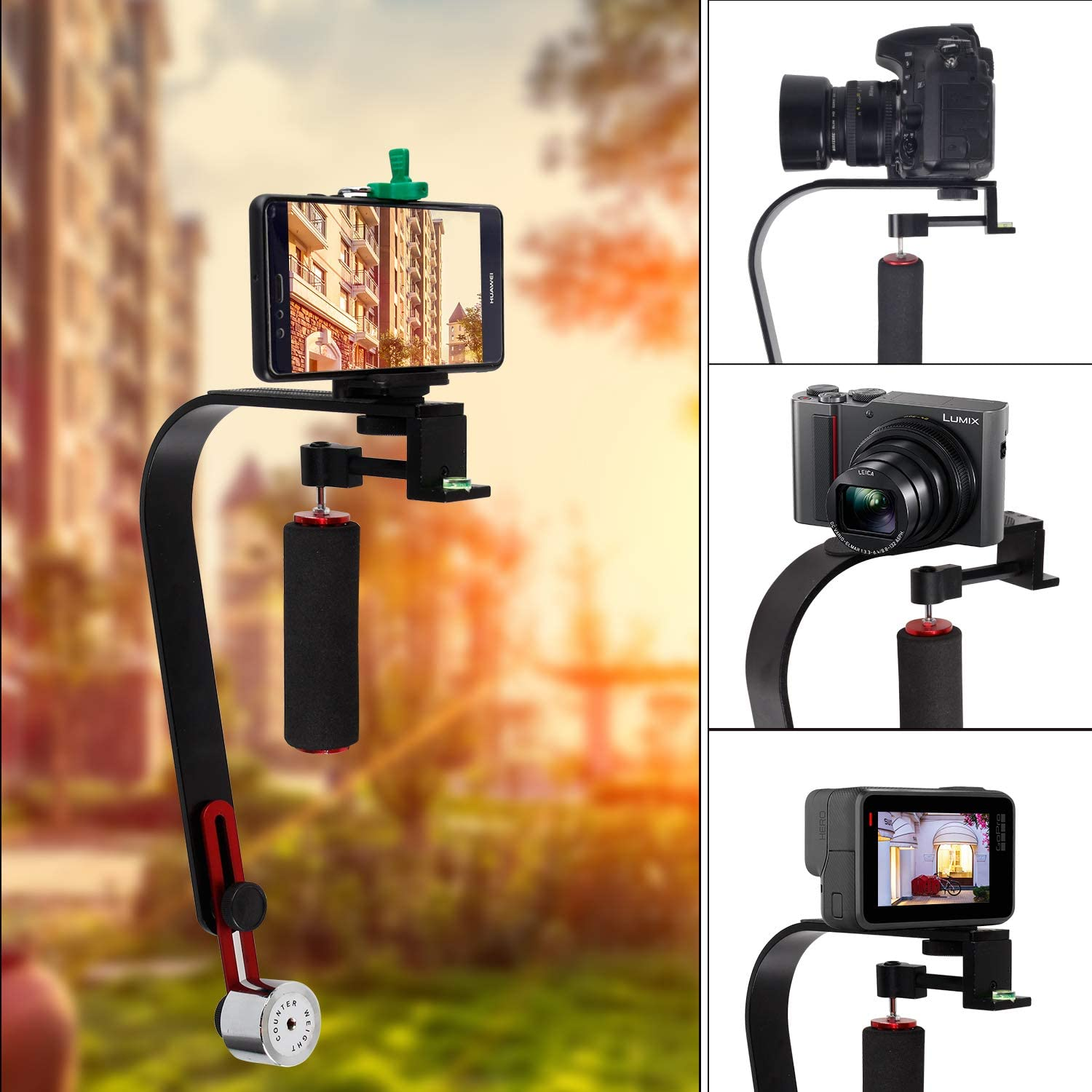 Video Steadycam Stabilizer for Digital Compact Camera iPhone DSLR for Canon Nikon Sony Gopro Hero Pentax Camcorder DV