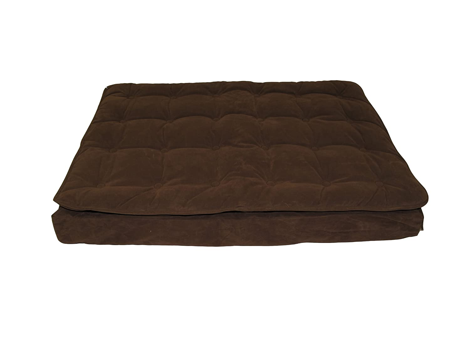 Carolina Pet 01783 CPC Luxury Pillow Ex Large Top Mattress Pet Bed, Chocolate, 36 by 48 by 4