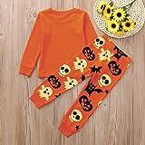 XoiuSyi,Toddler Kids Orange Pumpkin Print Long