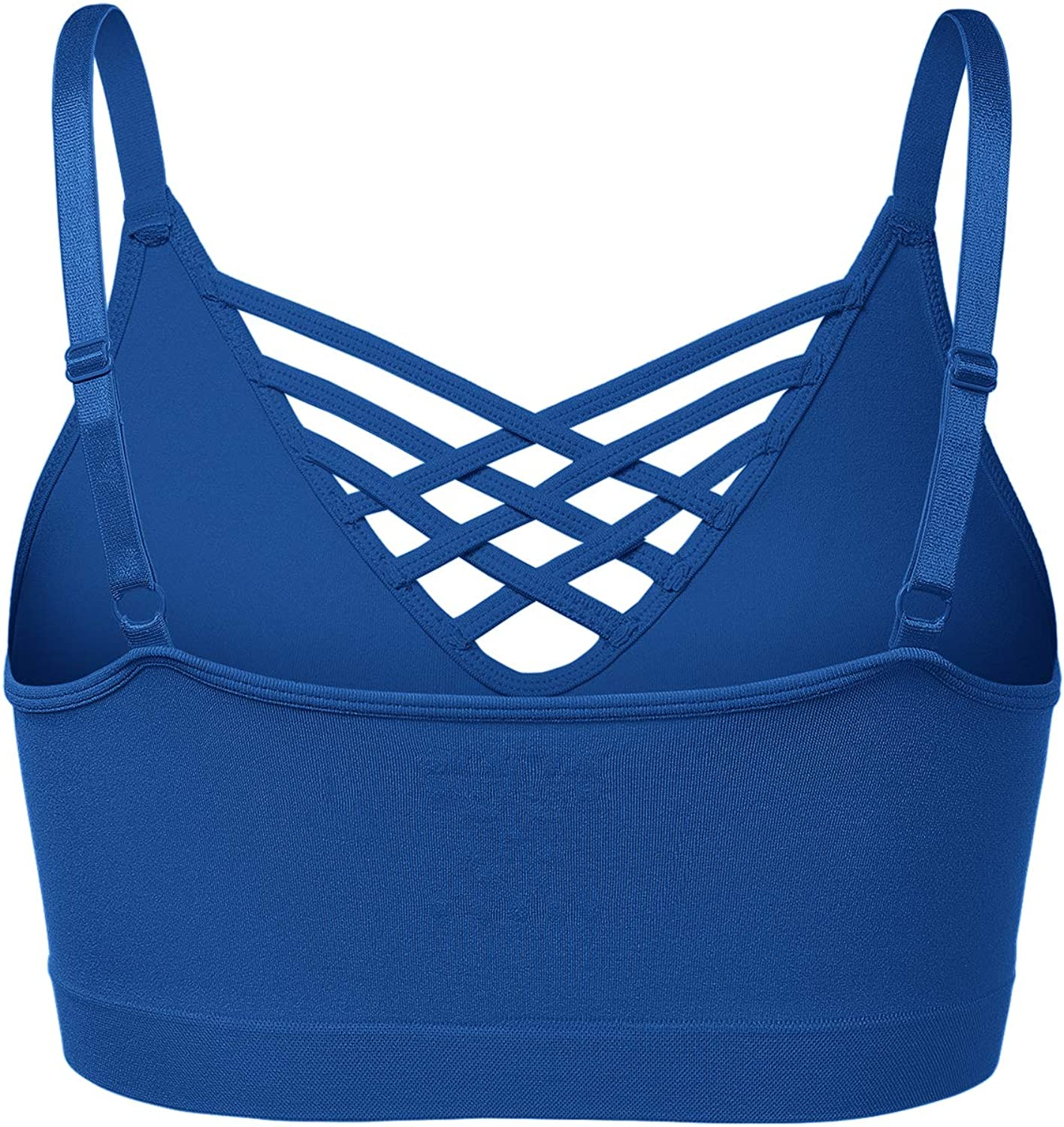Womens Seamless Strappy Bralette Shapeware Adjustable Straps Tops