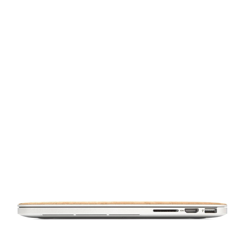 Woodcessories EcoSkin Walnuss Skin kompatibel mit MacBook 15 Pro Touchbar Retina aus Holz
