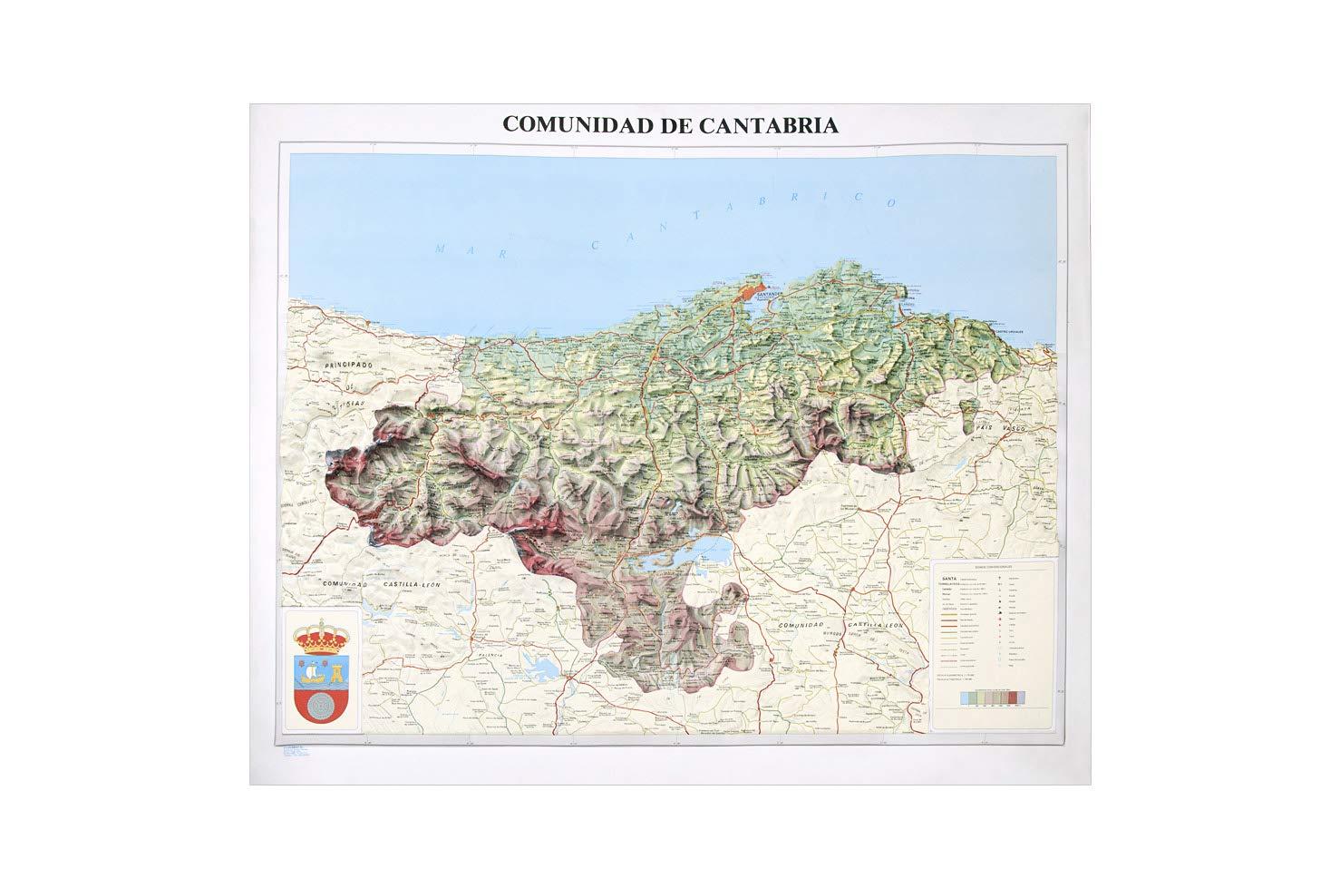 Mapa en relieve de Cantabria: Escala 1:175.000: Amazon.es: All 3D Form, S.L.: Libros
