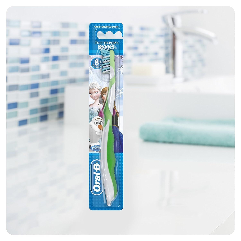 Oral-B CrossAction Cepillo de dientes manual con diseño de personajes de Frozen, varios diseños: Amazon.es: Salud y cuidado personal