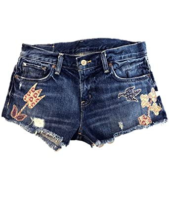 54283b417 Image Unavailable. Image not available for. Color: Ralph Lauren. Denim &  Supply Women's Embroidered Boyfriend Cymer Distressed Denim Shorts ...