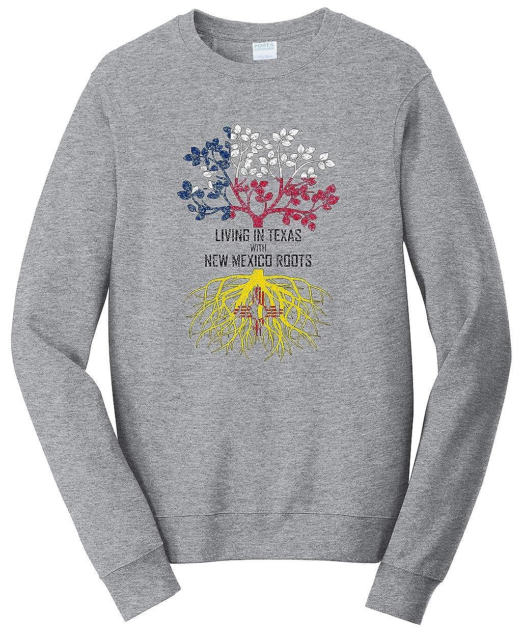 Tenacitee Unisex Living in Texas Mexico Roots Sweatshirt