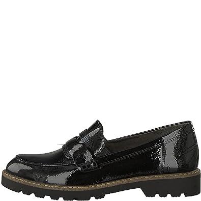 Tamaris 24312 21, Mocassini Donna, Nero (Black Patent), 36