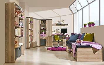 Schon Jugendzimmer Komplett   Set C Marcel, 7 Teilig, Farbe: Esche Rosa /