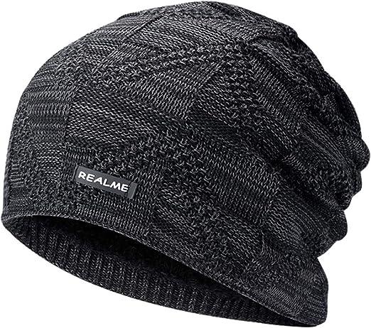 Men Women Knitted Hat Winter Casual Baggy Beanie Warm Soft Woolen Warn Outdoor