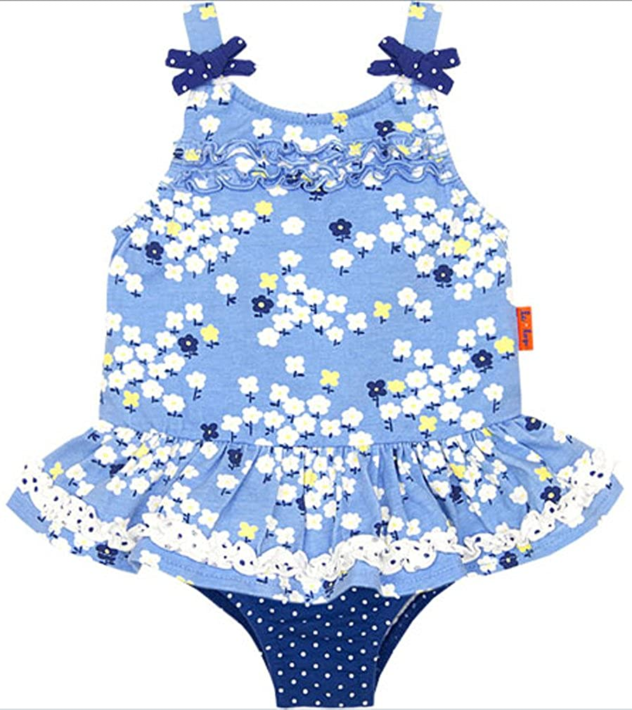 Baby Girls le top Two Piece Daisy Print Skirted Tankini