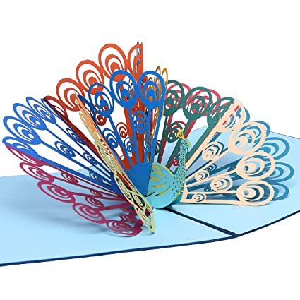 Amazon Pop Up 3d Greeting Cards With Envelope For Thanking