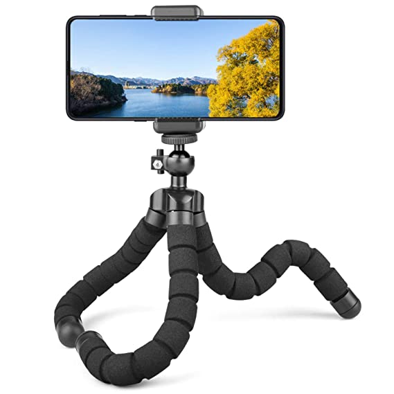 new concept fb5fd 0d5c8 Phone Tripod, Flexible Octopus Tripods Stand Compatible for Camera iPhone X  8 Plus, GoPro, Camera, Cell Phone WY031