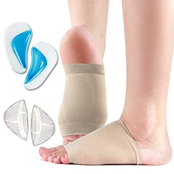ac9dfb00a6 Arch Support Brace Set, for Flat Foot- Stop Foot Pain - Soft Compression  Copper