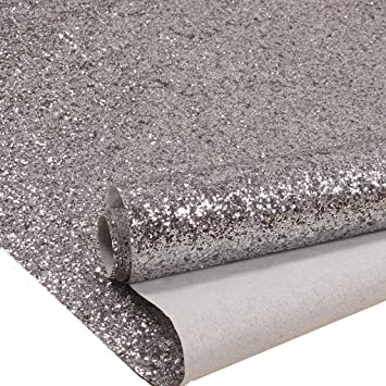 27in By 197in Silver Chunky Glitter Wallpaper 3d Sparkly Glitter