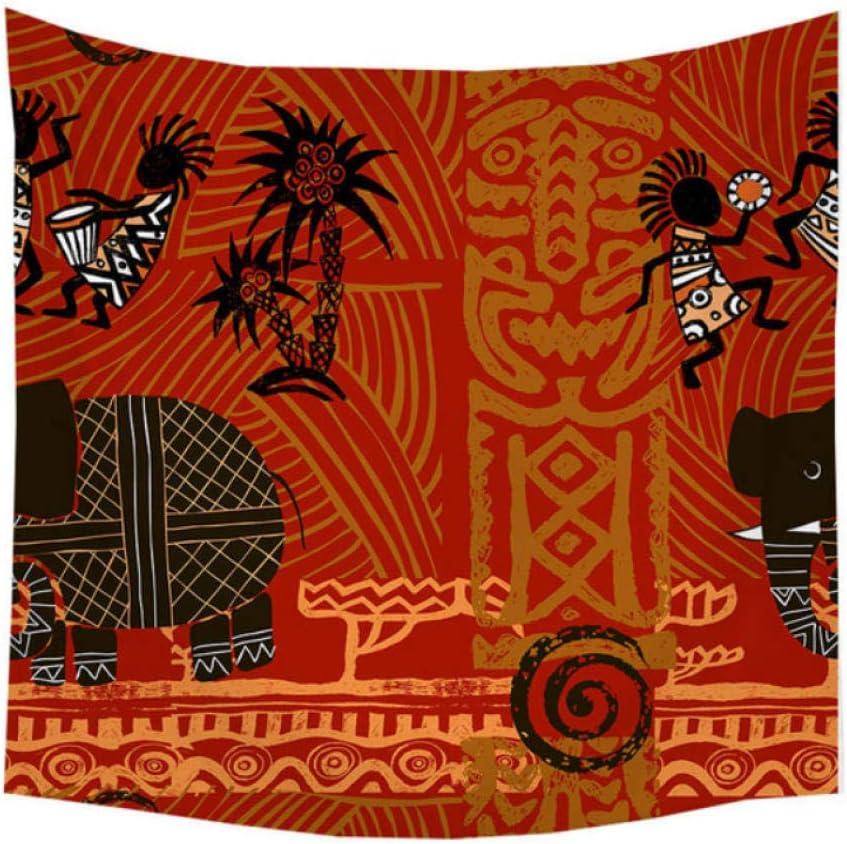 wrhua Tapisserie Femmes Africaines Danse Motif Polyester Tenture Murale Plage Pique-Nique Tapis De Yoga Salon Ferme Ferme D/écoration200 150 Cm