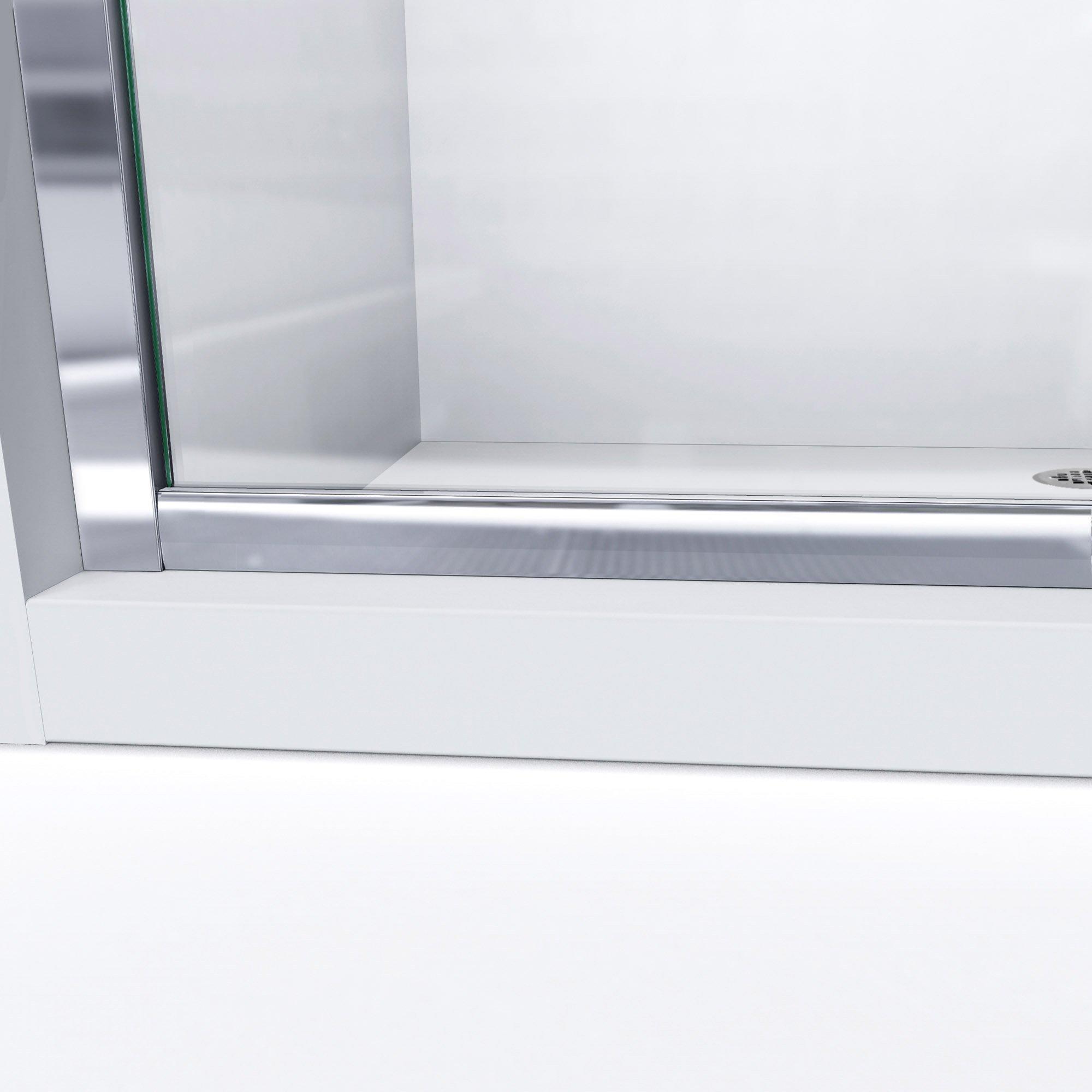 DreamLine Infinity-Z 50-54 in. W x 72 in. H Semi-Frameless Sliding Shower Door, Clear Glass in Brushed Nickel, SHDR-0954720-04 by DreamLine (Image #7)