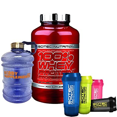 6f91f6e6e Scitec Nutrition 100% Whey Protein Professional 2350g Free Shaker and Water  Jug 2.2L (