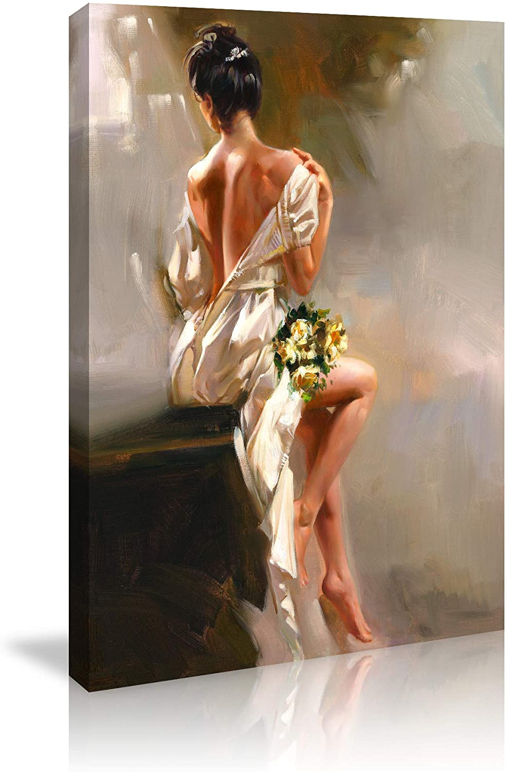 chengjing Home Decor Wall Art Painting Canvas Prints Bathroom Bedroom Living Room Wall Decoration Nude Woman Art Stretched and Framed Painting on Canvas