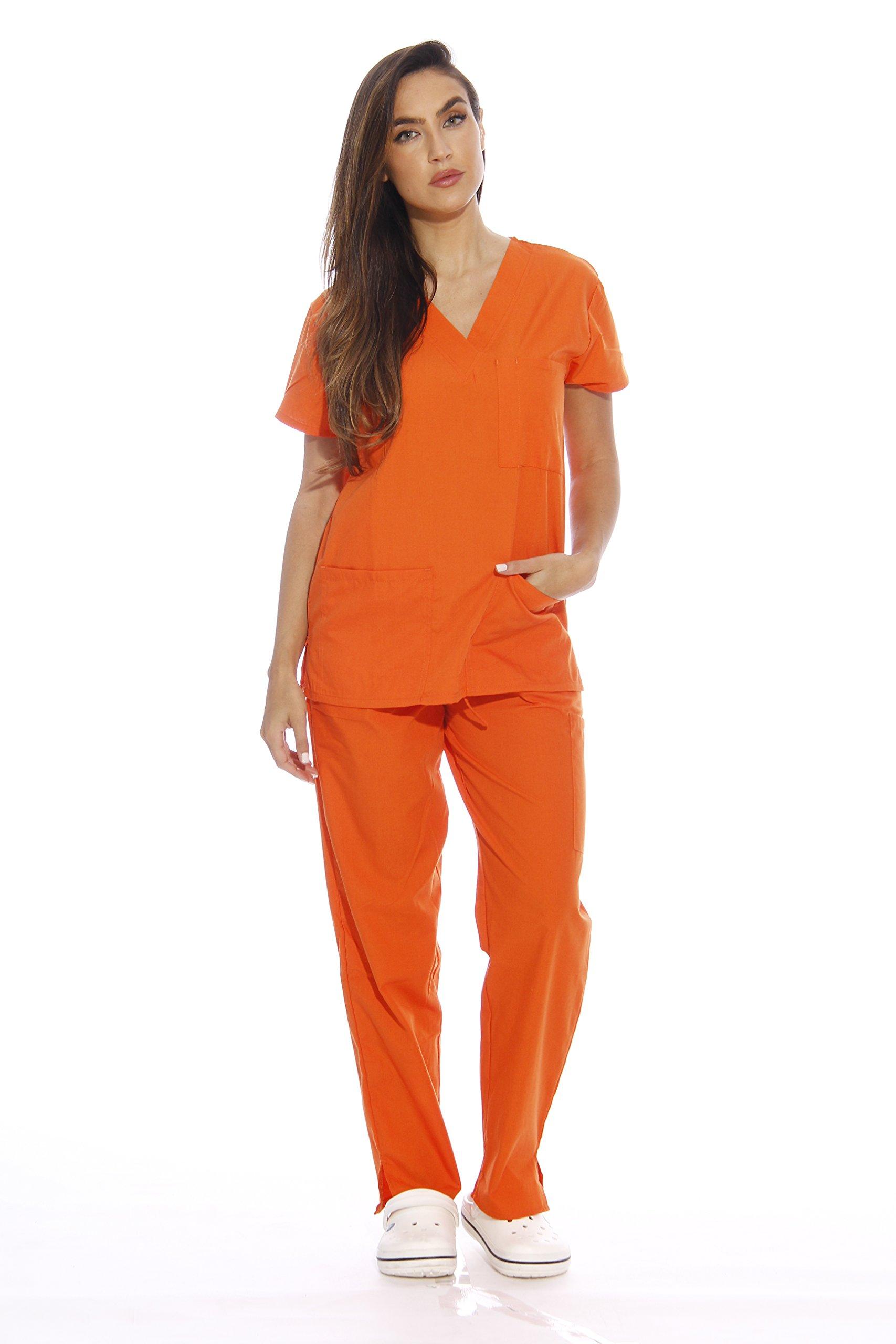 22250V-M Orange Just Love Women's Scrub Sets / Medical Scrubs / Nursing Scrubs,Orange,Medium
