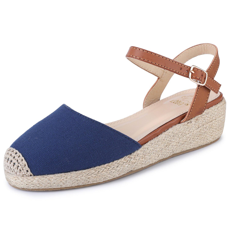 Alexis Leroy Femme Chaussures à 19137 Slingback à Sandales à Talons Espadrilles compensés en Toile Femme Bleu aaf451b - tbfe.space