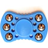 Bow Tie Fidget Spinner - Upgraded High Speed Spinner Toy with 6 Stainless Steel Balls - Perfect for Skin Picking Relief, ADHD and Stress Relief - Blue