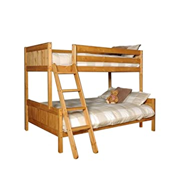 Comfy Living Triple Bunk 3ft 4ft Pine With Mattresses Enmore Solid