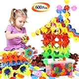 Building Block Toys, 600 Pieces Interlocking Plastic Disc Set, A Creative and Educational Construction Toy - Best Gift for Boys and Girls